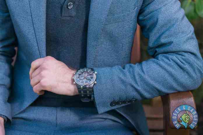 How the Watch Looks with a Suit on  | Globenfeld Jetmaster Mens Sports Watch