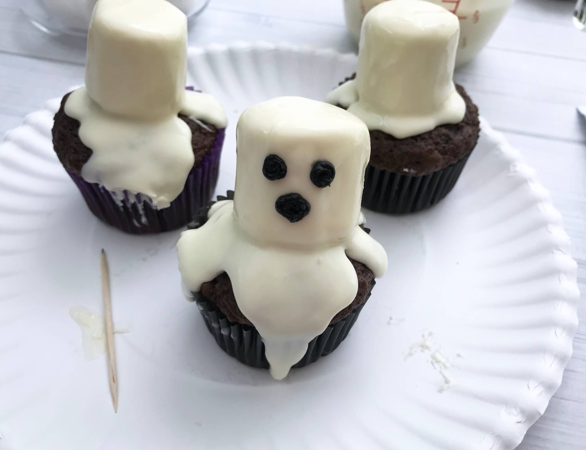 Halloween Party Food For Adults - Adding the eyes