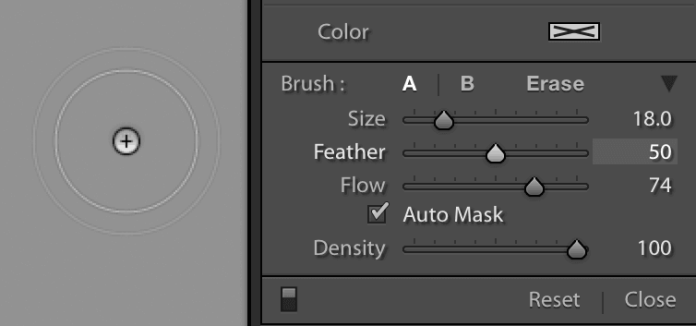 Brush-Size - Selective Colour Editing