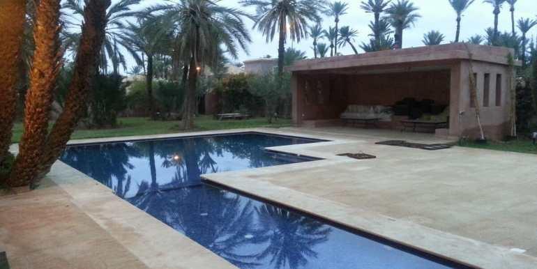 location villa de luxe pour longue durée au palmeraie marrakech14