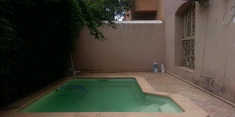 location villa meublée à targa marrakech avec piscine privée9