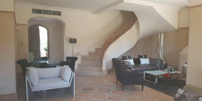 Belle villa meublée sur la plameraie marrakech  (6)