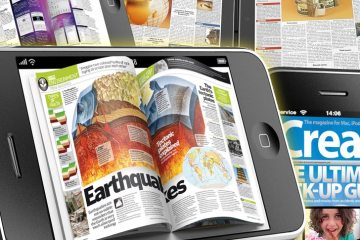 Newspaper or magazine from tablet pc.