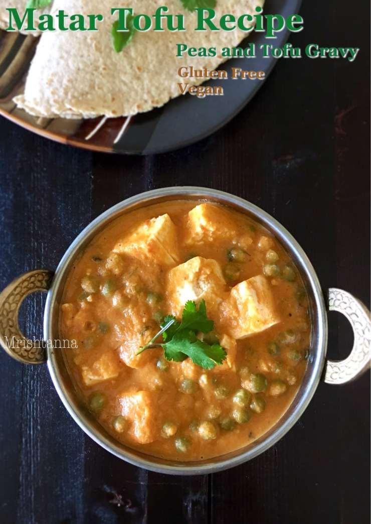 Matar Tofu Recipe - Peas Tofu Gravy