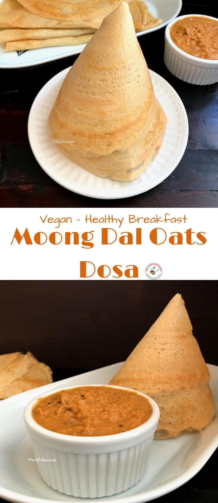 Moong Dal Oats Dosa