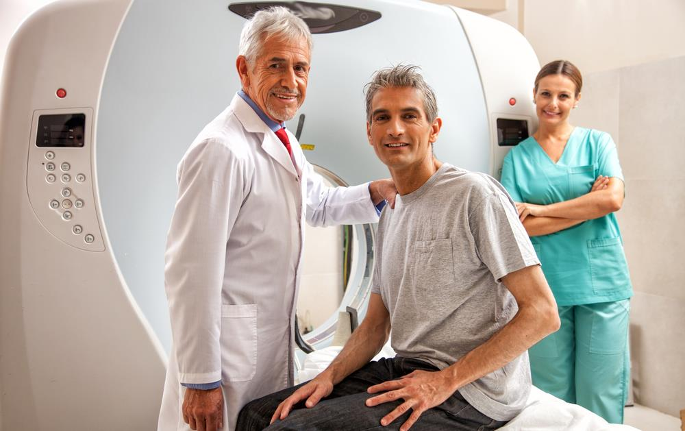patient getting a MRI