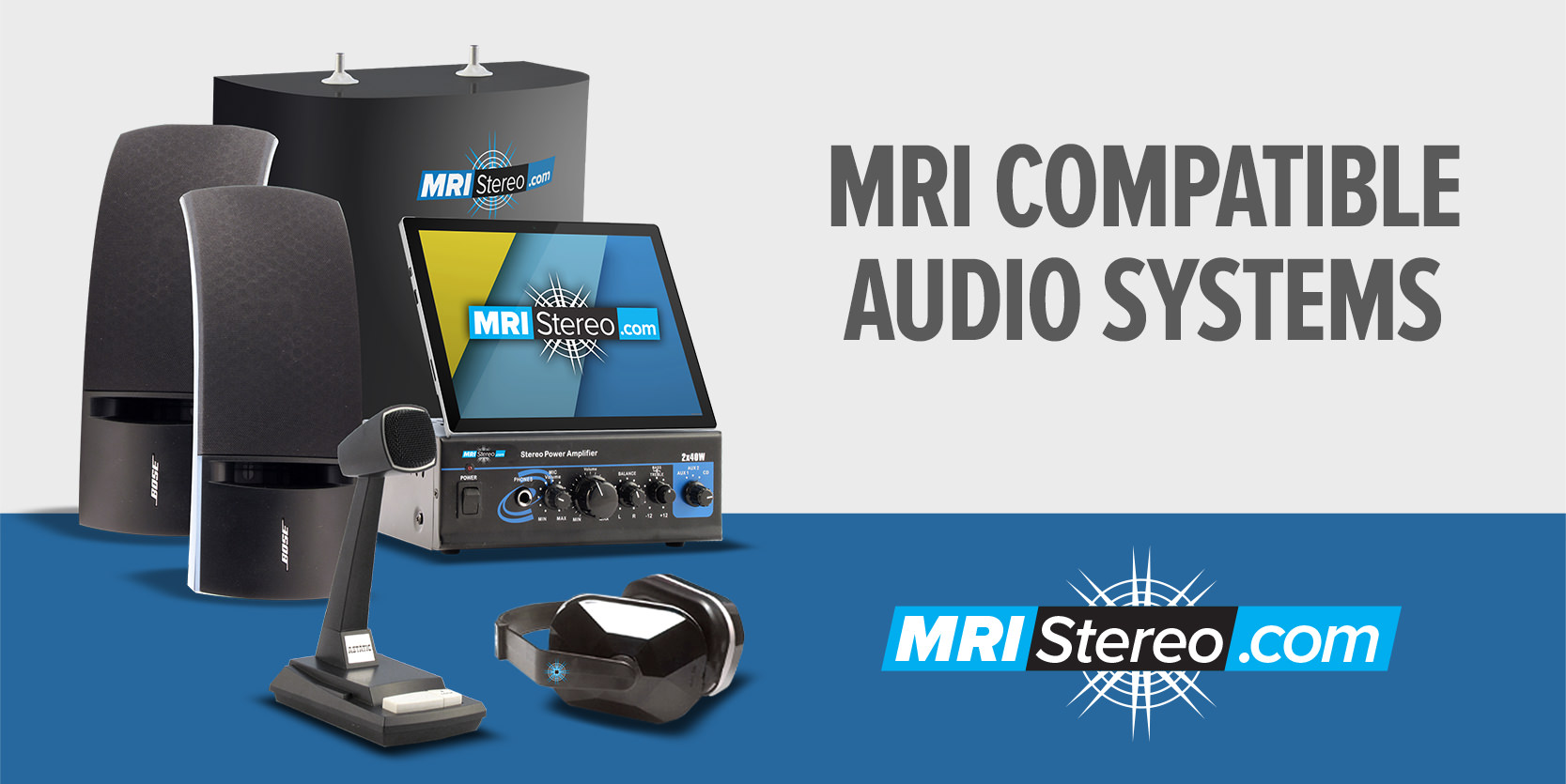 MRI Compatible Stereo System with Touch by MRIStereo.com