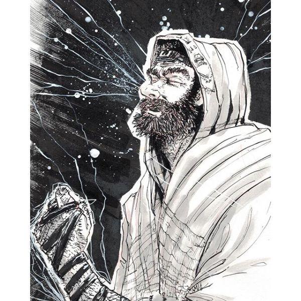 ישוע מנצרת Jesus from Nazareth celebrating Yom T'ruah http://rndm.us/jms # # Drawn using @artemscribendi's awesome pen holder and @pentelofamerica # #