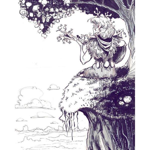 A before bedtime drawing last night. http://rndm.us/jms # # Drawn using @kuretakezig_usa @pentelofamerica @staedtlermars # #