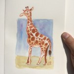 St. Louis Zoo live drawing/artdrop with my kids.