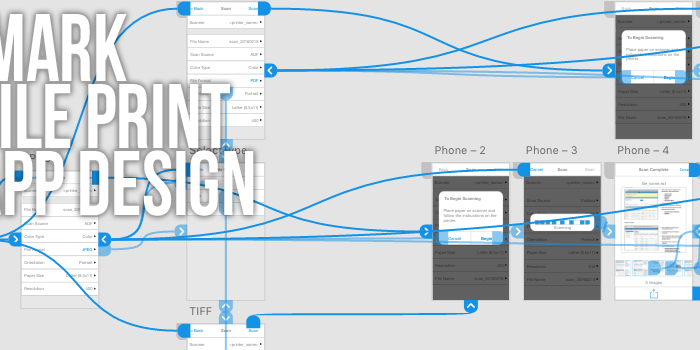 UX Mobile Print App Design