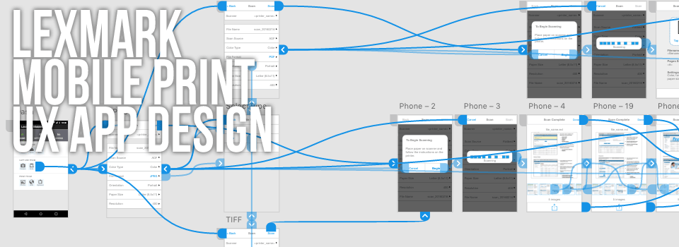UX Mobile Print App Design