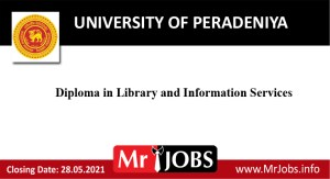 Diploma in Library and Information Services – University of Peradeniya 2021 Opportunities