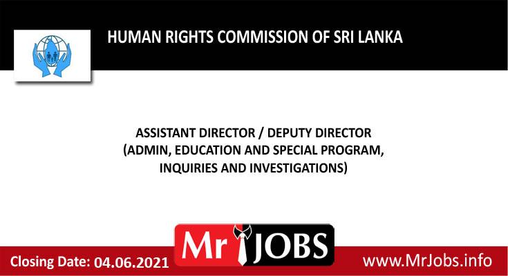 Human Rights Commission ofSri Lanka Vacancies