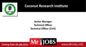 Coconut Research Institute Vacancies