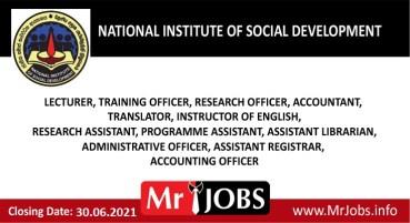 National Institute of Social Development Vacancies