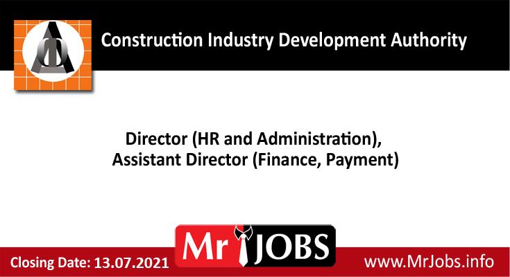 Construction Industry Development Authority Vacancies