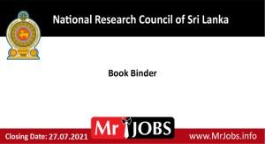 National Research Council of Sri Lanka Vacancies