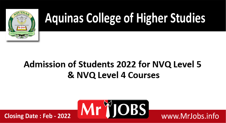Aquinas College of Higher Studies Course