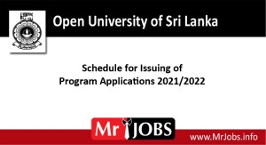 Open university Upcoming courses Schedule for Issuing of Course Applications 2021-2022