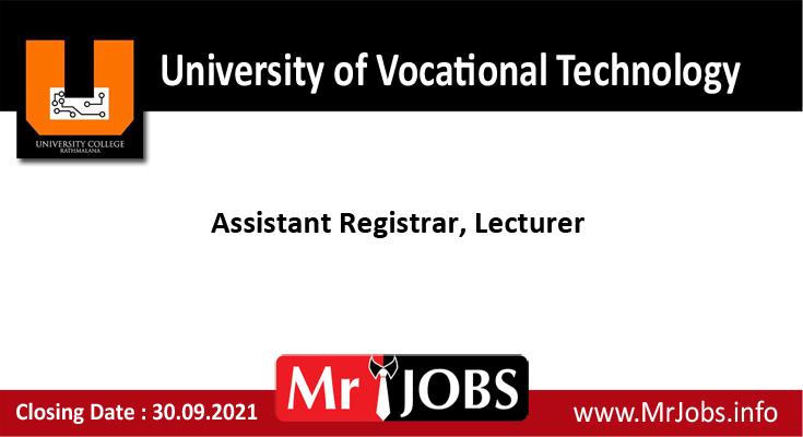 University of Vocational Technology Vacancies