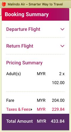 harga tiket promosi Malindo Air