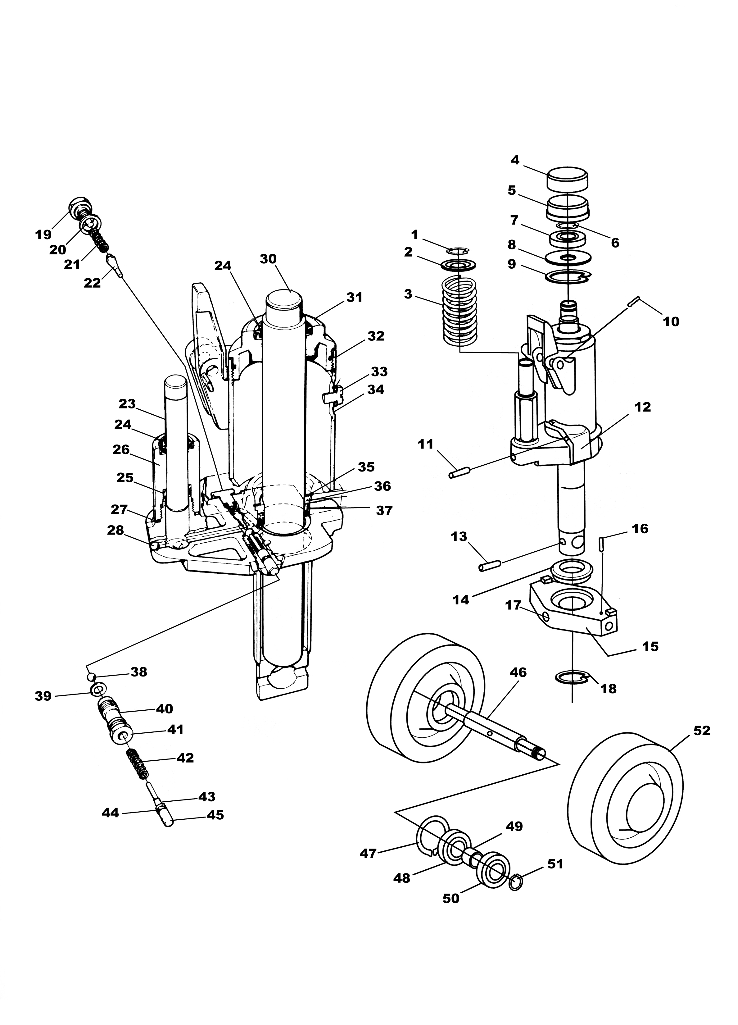 Pettibone Pallet Jack Parts Diagram
