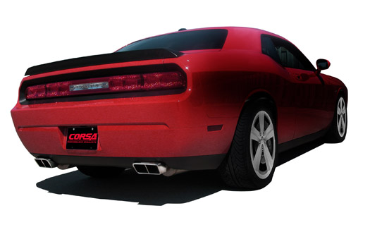 This is a Corsa Performance Exhaust On A Challenger
