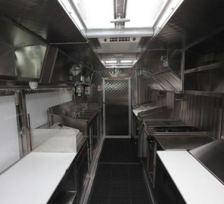 This is the the Custom Food Truck Kitchen
