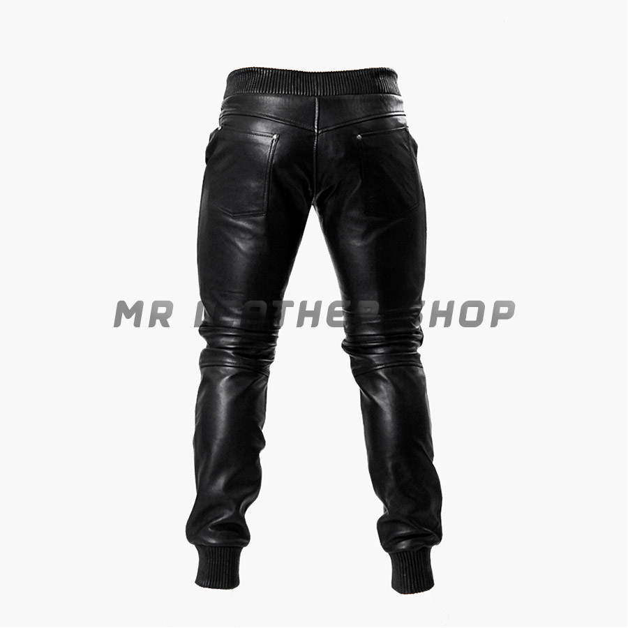 Leather Black Trousers 02