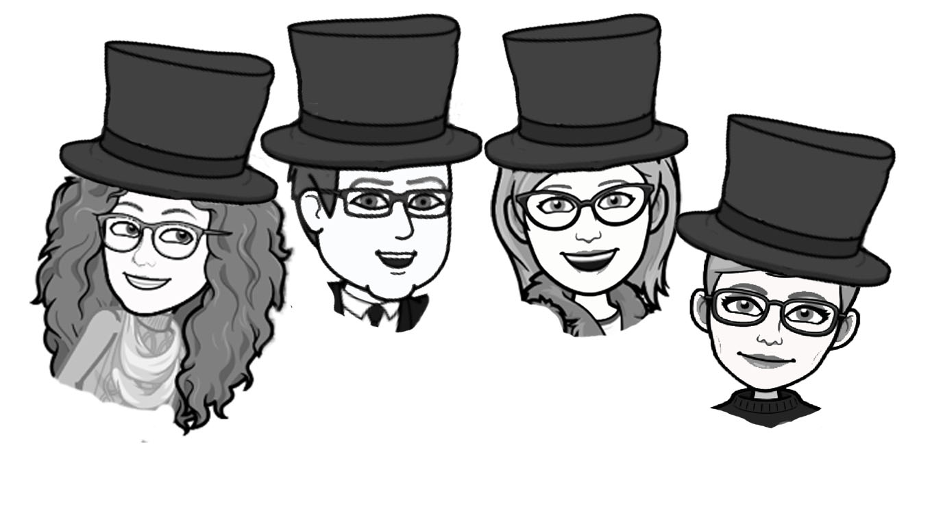 """The Founding Four"" signers of the 501c3 non-profit founding Mr. Local History Project. In our signature caricature fashion we introduce Paula Axt, Brooks Betz, Jill Betz, and Meg Wastie. All residents of the Somerset Hills and on the mission to develop programs focused on education and local history."