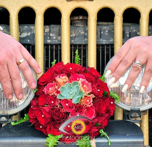 Bouquet & Rings detail