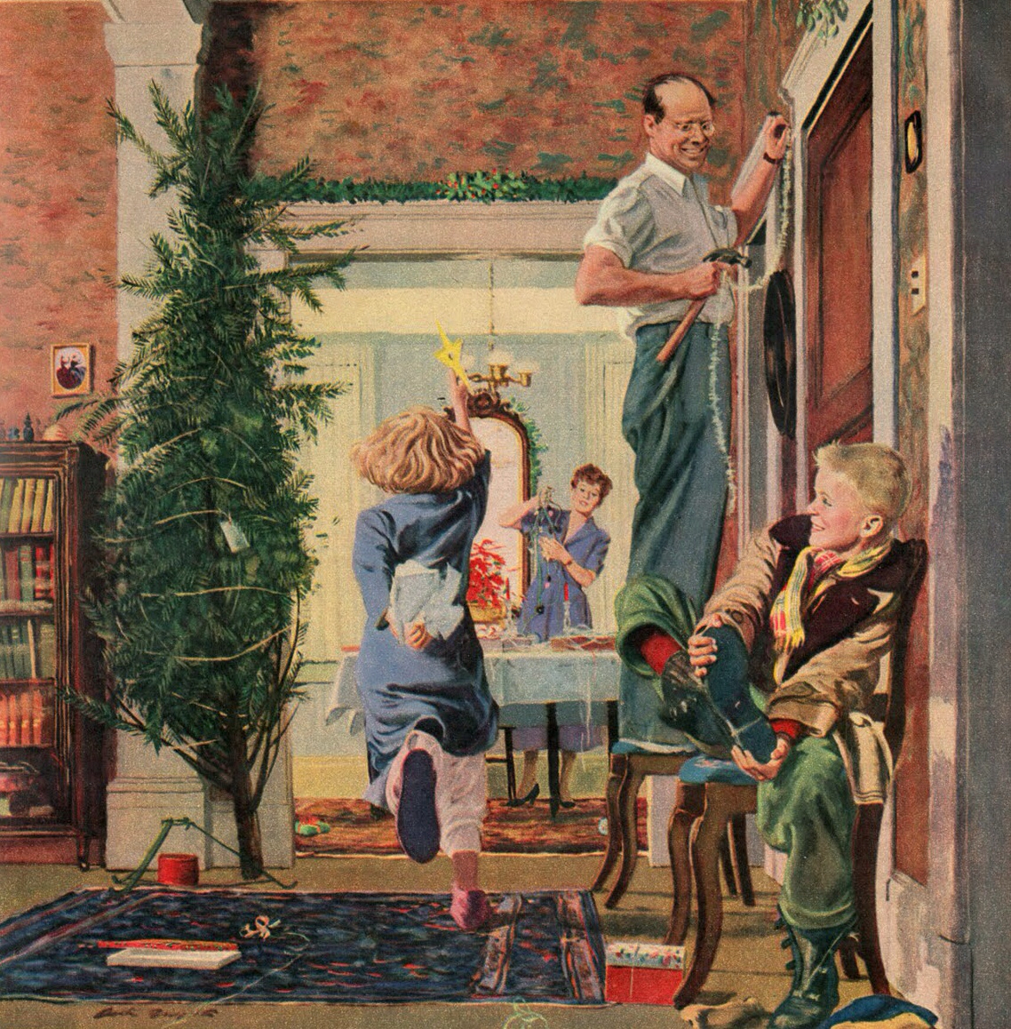 Norman Rockwell Christmas Tree Paintings bigking keywords and pictures