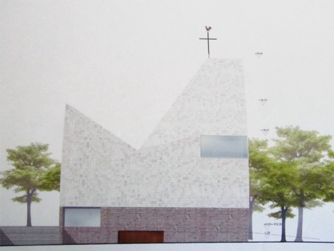 3D_Giess_Keramik_Kachel_Kirche_Neubau_Poing_Entwurf_Architekten