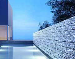Design-Profilglas im Außenbereich