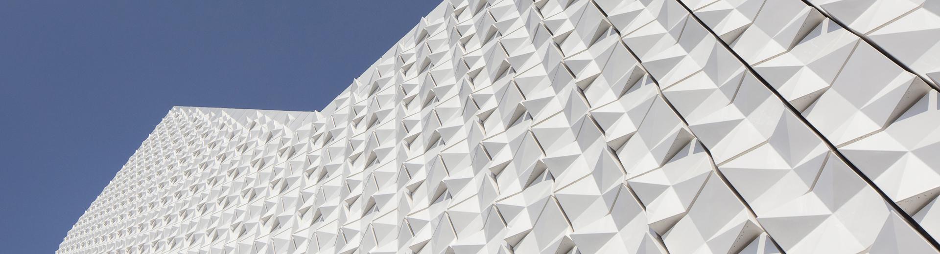 Fassade 3D Keramik Poing