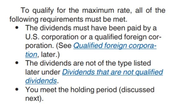 What are qualified dividends? Requirements