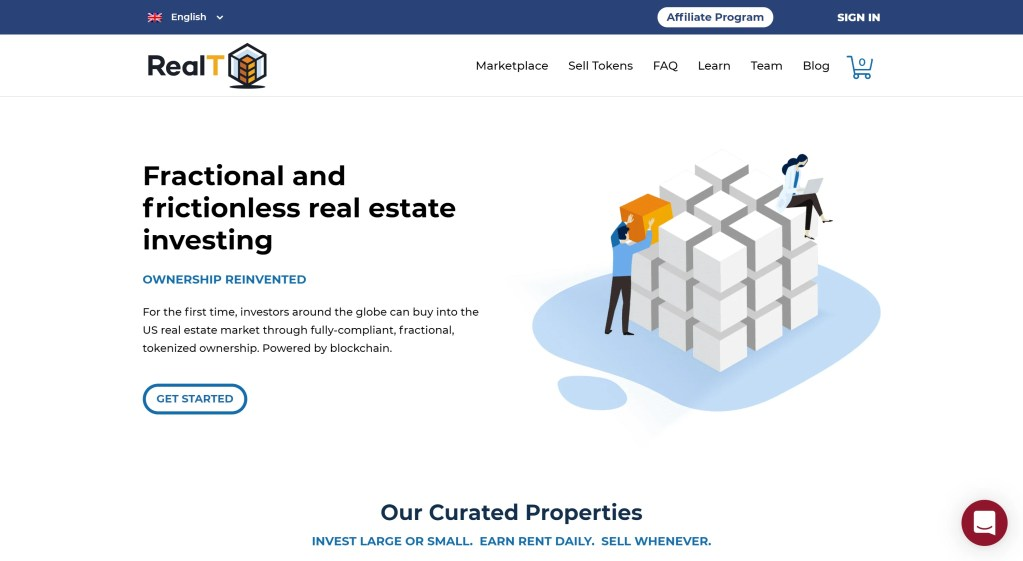 Crypto real estate investment projects - RealT