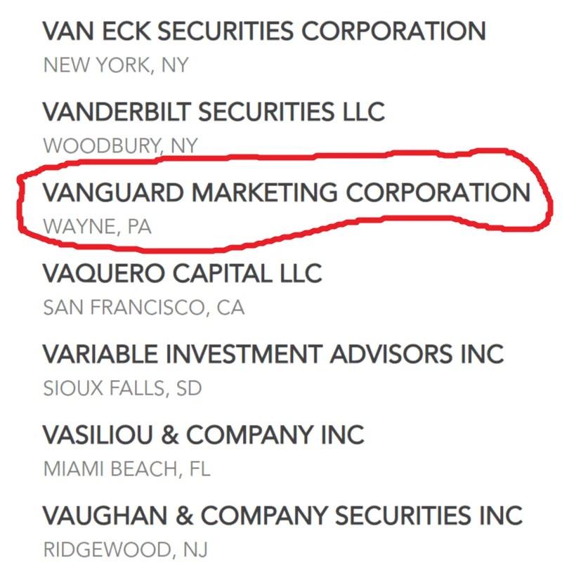 Vanguard Marketing Corporation - SIPC membership
