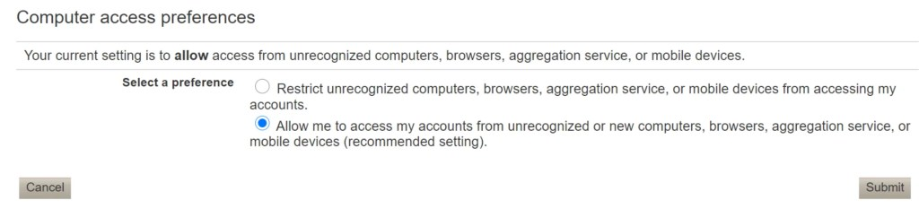 Vanguard Account Access Restriction