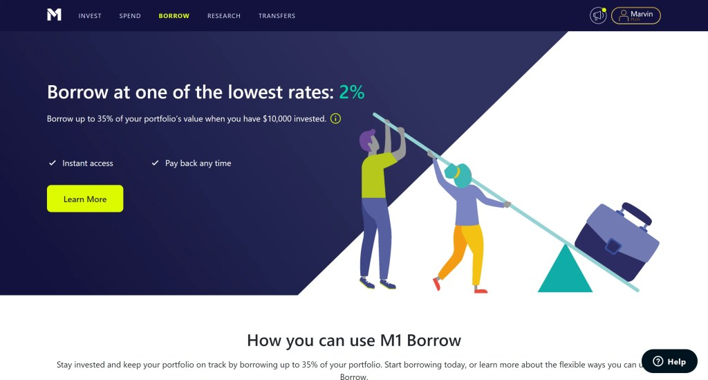 M1 Finance Borrow Review