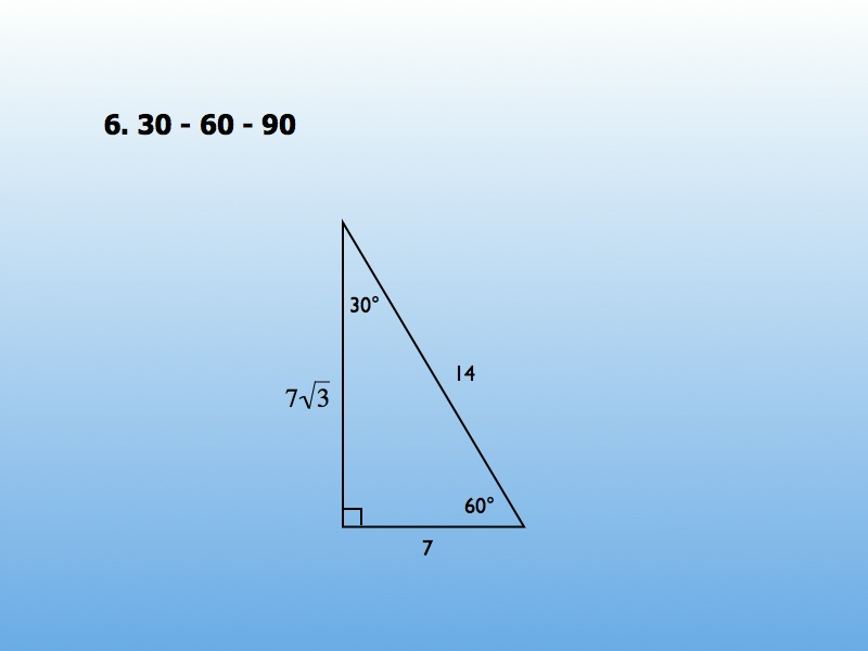 Special Right Triangle Problems