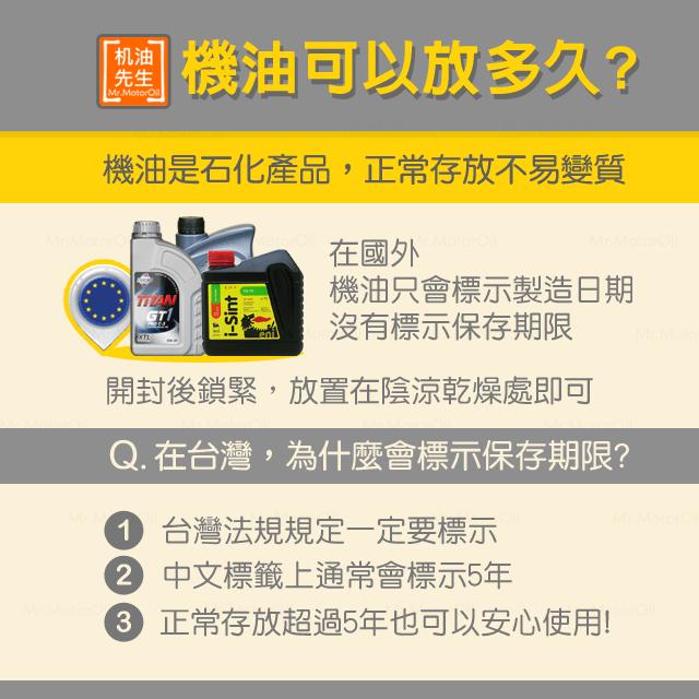 【產品問題】機油沒有保存期限