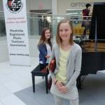Two students at the piano at Musicthon 2018