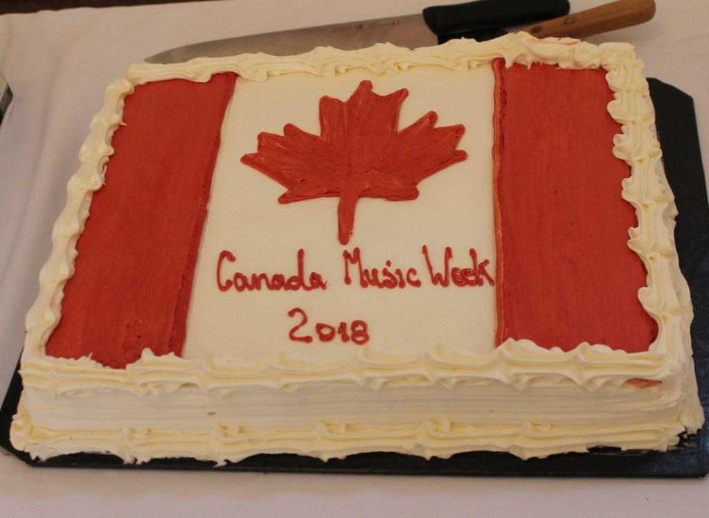 Canada Music Week 2018 cake