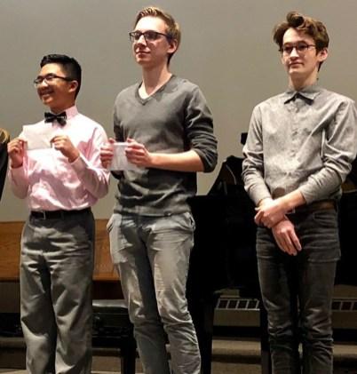 Senior Scholarship Winners Seanne, Joel, and Anton