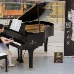 A student playing piano at Musicthon 2020