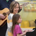 Gina Wedel and her student at Musicthon 2020