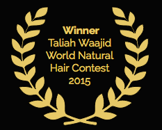 Award lauresl for the Winner of the Taliah Waajid World Natural Hair Contest 2015