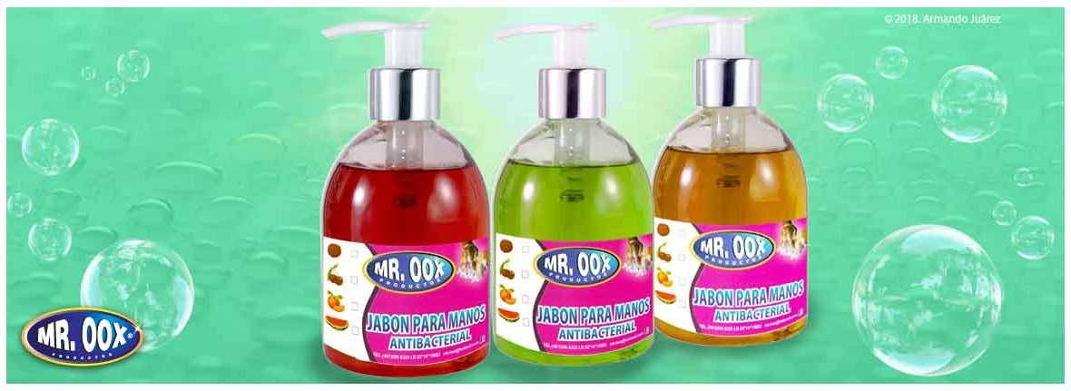 jabon para manos antibacterial